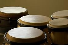 Closeup Of Bongo Drums Under T...