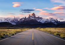 Sunset On Road To El Chalten -...