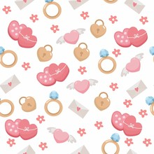 Seamless Pattern With Cute Rom...