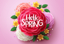Spring Flowers Vector Design. ...