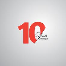 10 Year Anniversary Vector Tem...