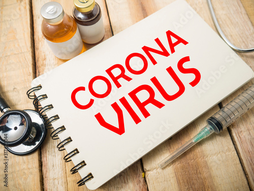 Corona Virus, Health and Medical Concept Canvas Print