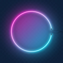Neon Orb Or Circle Light Sign,...