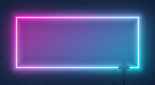 Neon Horizontal Rectangle Fram...