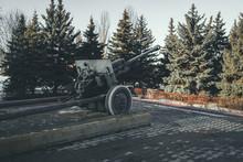 Anti Tank Gun In Military Park...