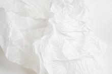Crumpled White Tissue Paper