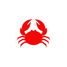 Red Crab Logo Icon Design Vect...