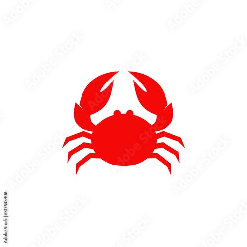 Red crab logo icon design vector illustration template Wallpaper Mural