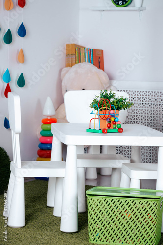 Foto The interior of the children's room is white