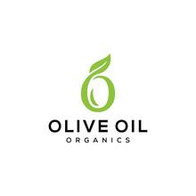 Initial O Olive And Leaf For Vintage Bouquet Logo Design