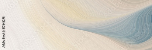 surreal horizontal banner with light gray, light slate gray and dark gray colors Fototapet