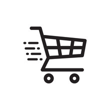 Shopping Chart Icon In Trendy ...
