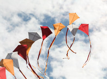 Colorful Kite Flying In The Sk...