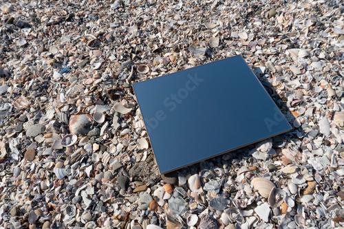 Fotomural 砂浜に鏡