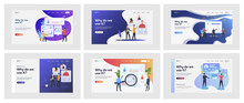 Set Of Business People Validating Personnel. Flat Vector Illustrations Of Busy Men And Women Assessing Coworkers. Business And Corporate World Concept For Banner, Website Design Or Landing Web Page