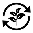 gz693 GrafikZeichnung - german: Pflanze, Sprosse mit Blättern, Umweltschutz, Nachhaltigkeit Symbol. english: plant, sprout with leaves, recycling, environmental protection, sustainability icon. g8961