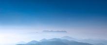 Panoramic View Of Doi Luang Chiang Dao, Morning Sunrise Form Doi Kham Fah Viewpoint, Padaeng National Park, Chiang Mai.