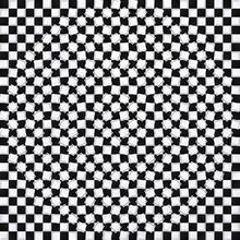 3d Geometric Black, White Square Pattern