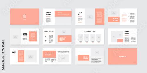 Fototapeta minimal style powerpoint slides template obraz
