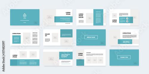 minimal style powerpoint slides template Canvas-taulu