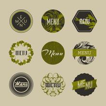 Elegant Nature Themed Badges O...