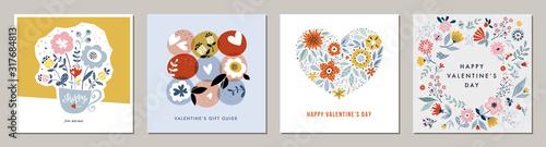 Obraz na plátně Happy Valentine's Day greeting cards