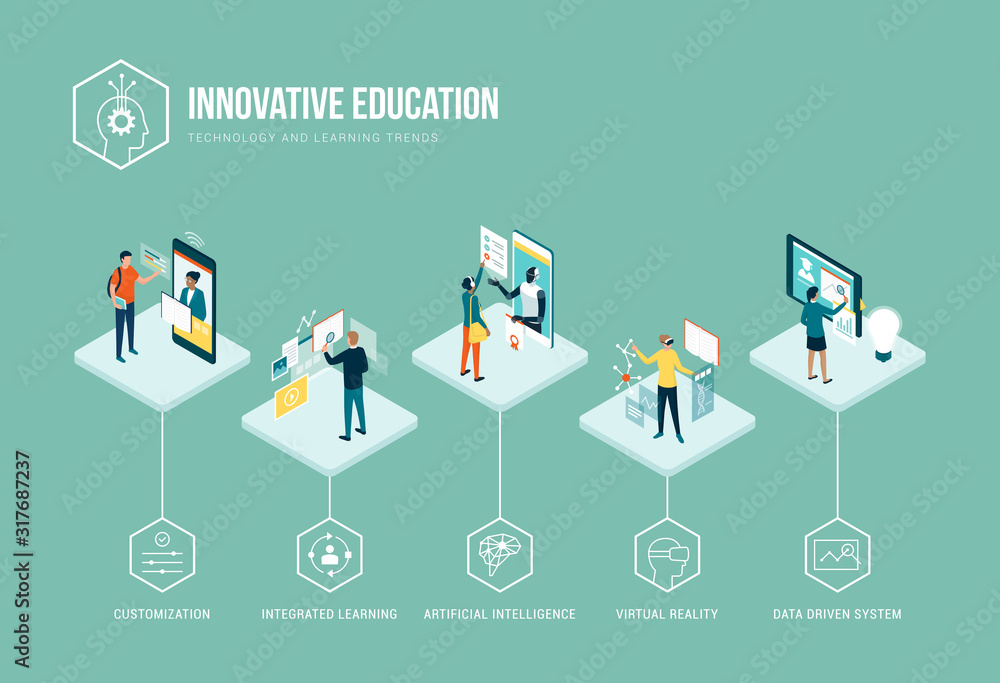 Fototapeta Innovative education and learning trends