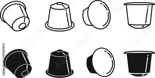 Stampa su Tela coffee capsule icon - vector illustration.