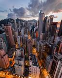 Fototapeta Nowy Jork - Hong Kong Cityscape Night Photography