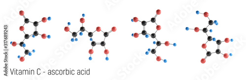 Photo Vitamin C Molecule Structure