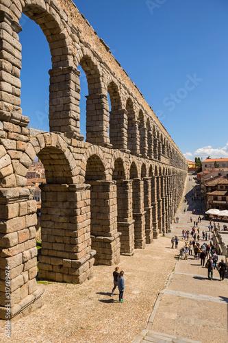 Billede på lærred Roman Aqueduct of Segovia