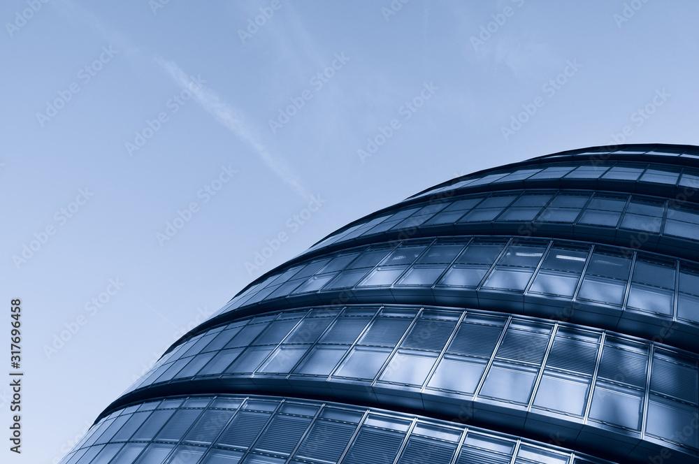 Fototapeta Modern curved building