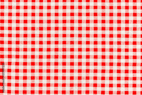 texture of checkered picnic blanket Wallpaper Mural