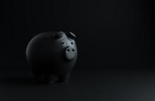 Minimal Black Piggy Bank Mock ...
