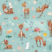 Seamless Pattern With Little D...