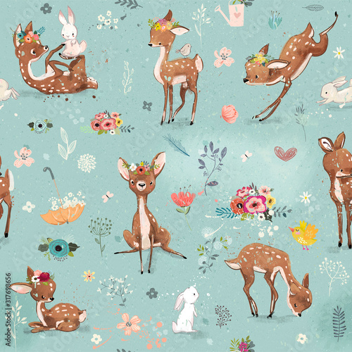 seamless-pattern-with-little-deer-and-hare