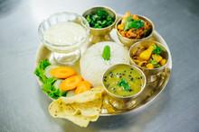 Nepali Dal Bhat,Traditional Nepalese Food, Thamel Kathmandu