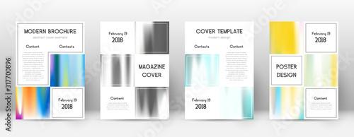 Fototapeta Flyer layout. Business surprising template for Bro