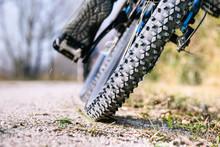 Mountain Bike Tire Low Angle C...