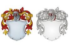 Coat Of Arms Knight Emblem #1019