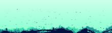 Silhouette Of Fish And Algae O...