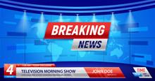 Breaking News TV Background