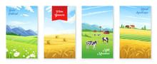 Farm Realistic Banners Set