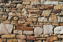 Wall Made Of Old Stones Of Different Sizes