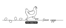 Hen Or Chicken Vector Outline,...
