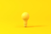 Light Bulb Isolated Over A Yel...