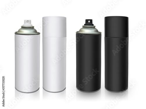 aerosol bottle isolated on white background Canvas Print