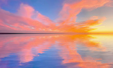 Sunset Reflection On The Ocean