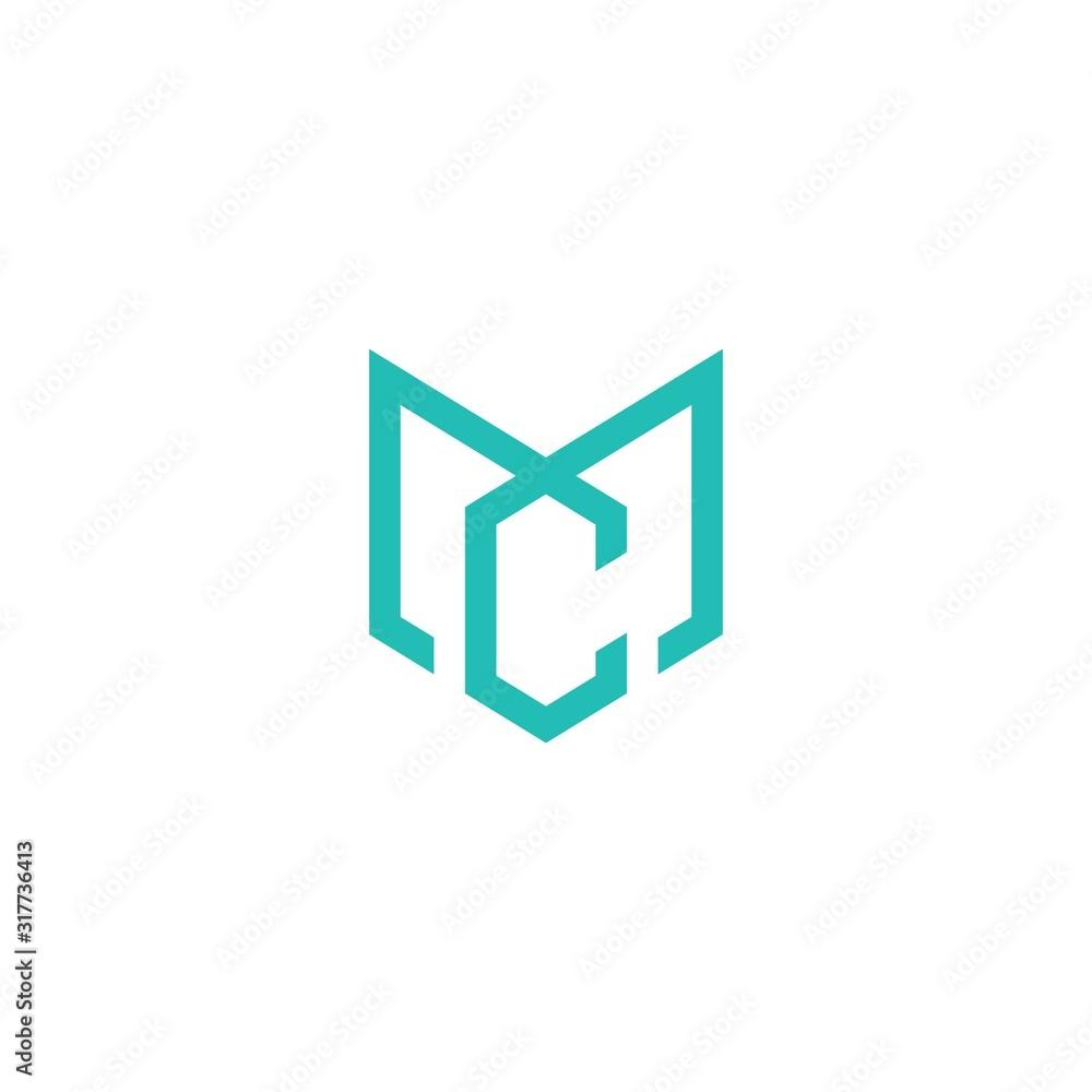 Fototapeta MC CM letter icon shape.