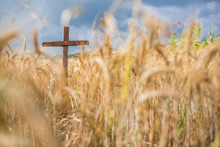 A Christian Wooden Cross Stand...